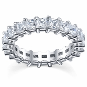 Princess Cut Eternity Wedding Band