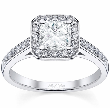 Princess Cut Halo Ring Setting - click to enlarge