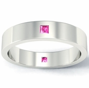Princess Cut Pink Sapphire Landmark Eternity