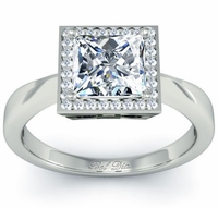 Princess Cut Square Halo Setting