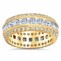 Princess Diamond Eternity Ring with Diamond Accents