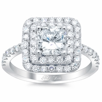 Princess Double Halo Engagement Ring