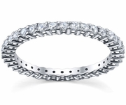 Prong Set Diamond Eternity Wedding Ring