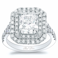 Radiant Baby Split Double Halo Engagement Ring