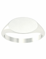 Ring Signet Surface Long Oval