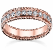 Rose Gold Diamond Eternity Band FG-VS Diamonds