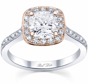 Rose Gold Engagement Ring Setting - click to enlarge