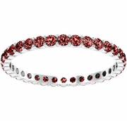 Round Cut Garnet Eternity Ring