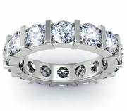 Round Diamond Eternity Ring Bar Setting
