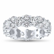 Round Diamond Garland Eternity Ring