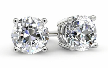 Round Diamond Studs Earrings - click to enlarge