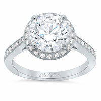 Round Engagement Ring with Halo