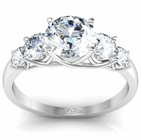 Round 5 Diamond Engagement Ring with Trellis Setting