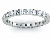 Round One Carat Diamond Eternity Ring with Bar Setting