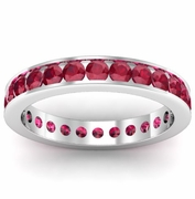 Ruby Eternity Ring in Channel Setting