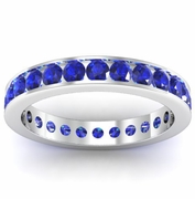 Sapphire Eternity Ring in Channel Setting