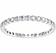 Shared Prong Eternity Wedding Ring Band