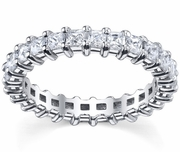 Shared Prong Princess Diamonds Eternity Wedding Band 3.00 cttw