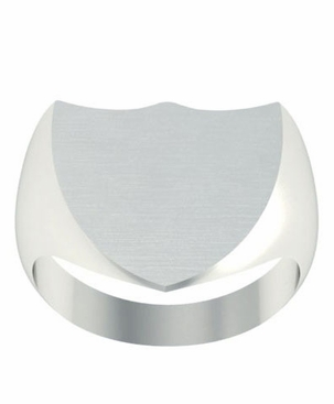 Shield Shaped Family Signet Ring - click to enlarge