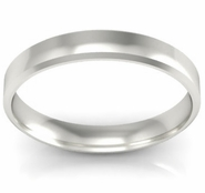 Simple Gold Beveled Ring 3mm