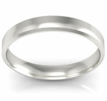 Simple Gold Beveled Ring 3mm - click to enlarge