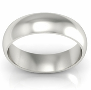 Simple Gold Wedding Band 6mm