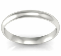 Simple Wedding Band in 18k 3mm