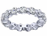Single Prong Diamond Eternity Wedding Band