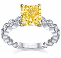 Single Prong Yellow Diamond Engagement Ring