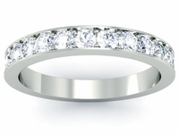Single Row Diamond Pave Eternity Ring