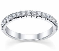 Single Row Half Eternity Wedding Band