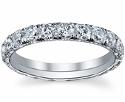 Single Row Pave Diamond Eternity Band