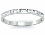 Single Row Pave Diamond Eternity Ring