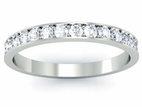Single Row Pave Set Diamond Eternity Band