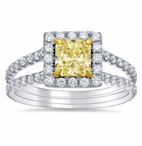 Split Shank Canary Diamond Engagement Ring