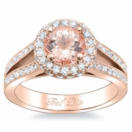 Split Shank Rose Gold with Morganite Engagement Ring