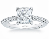 Square Pave Engagement Ring