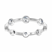 Stackable Bezel Eternity Ring