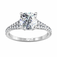 Tapered Diamond Pave Engagement Ring