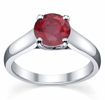 Trellis Round Ruby Solitaire