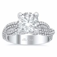 Twist Shank Pave Diamond Engagement Ring