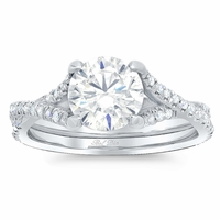 Twisted Double Shank Engagement Ring