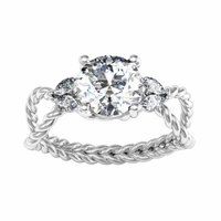 Twisted Rope Engagement Ring