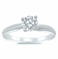 Twisted Solitaire Engagement Ring Setting