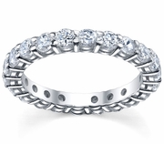 Two Carat Eternity Ring Shared Prong Set