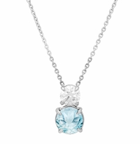 Two Stone Diamond and Gemstone Necklace