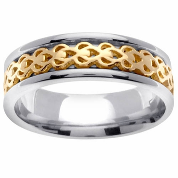 Two Tone Celtic Knot Ring for Men - click to enlarge