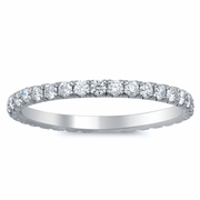 U Pave Diamond Eternity Wedding Band