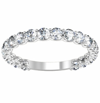 U-Prong Diamond Wedding Ring