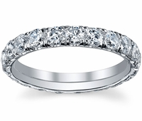 U Shape Micro Pave Diamond Eternity Wedding Band